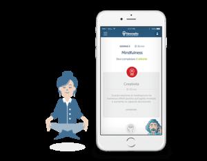 burnout e mindfulness - combatti lo stress con i percorsi di Neocogita tramite app